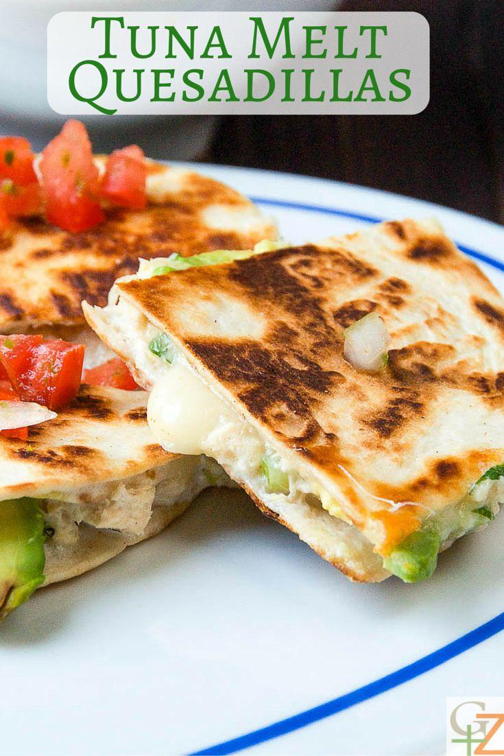 Tuna Melt Quesadillas | Garlic + Zest