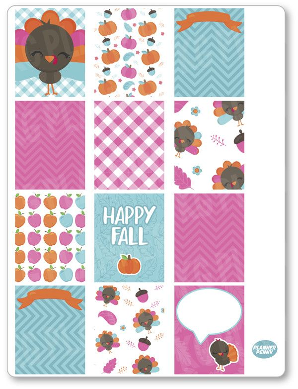 Gobble Gobble Ful... added to the shop! View/purchase at http://www.plannerpenny.com/products/gobble-gobble-full-boxes-planner-stickers?utm_campaign=social_autopilot&utm_source=pin&utm_medium=pin