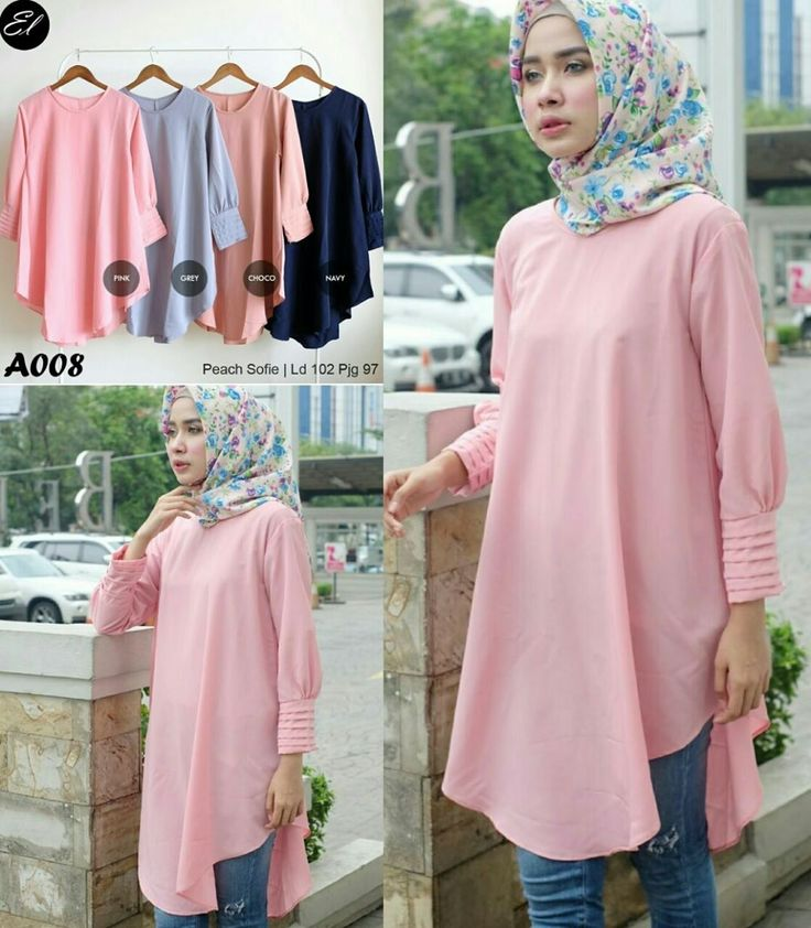 Ready A008 @60rb (KHUSUS GROSIR)  Bahan Peach Sofie  Seri 4 Warna  LD 102 cm  P 97 cm    Contact us for more detail  line: @ Louve.pgmta (pakai tanda @ yah)  WA: 0858 8342 5707  store location: PGMTA lantai LG blok B no.176    Grup store instagram:   hijaber: @ louve.pgmta  alyla: @ alyla.alyla  Cek resi kiriman & Testimonial : @ puasbangetsis