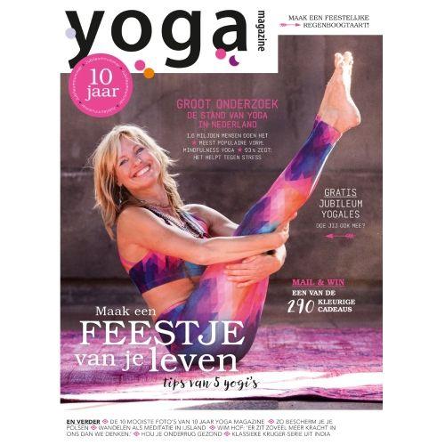 Yoga Magazine 2016 - 6 - Maak een feestje van je leven. - 10 jaar.