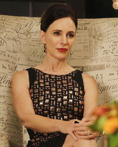 Revenge Fashion Credits: Costume Designer Jill Ohanneson on the Season 3 Wardrobe - SEASON 3, EPISODE 4: VICTORIA'S ANTONIO BERARDI DRESS from #InStyle