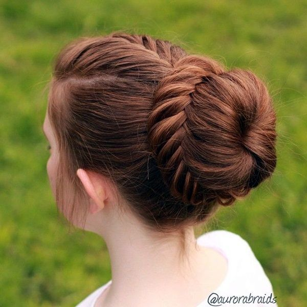 The Fishtail Bun; New Years Eve Party Hairstyles 2016