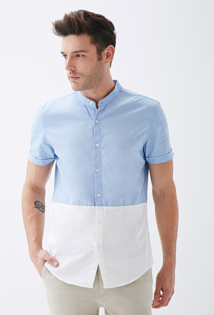 1000 images about mandari collar shirt on pinterest for Chinese collar shirts for men