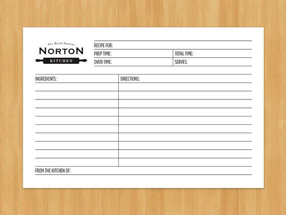 Printable Personalized Recipe Cards And Dividers By Wrightandmain