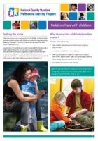 Newsletter 36 Relationships with children