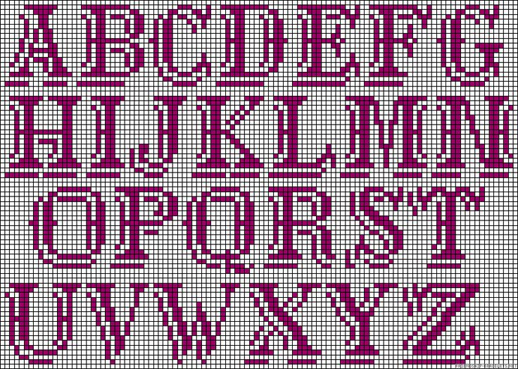 Alphabet perler bead pattern