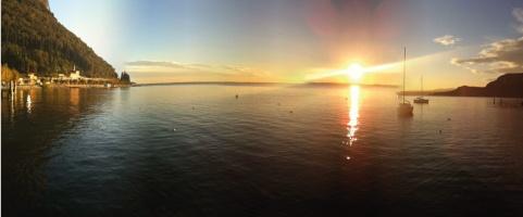 Sunset on Garda