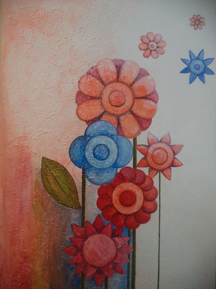 O jardim / Alê Vilaverde / textura / acrílica sobre tela / art / acrylic / painting