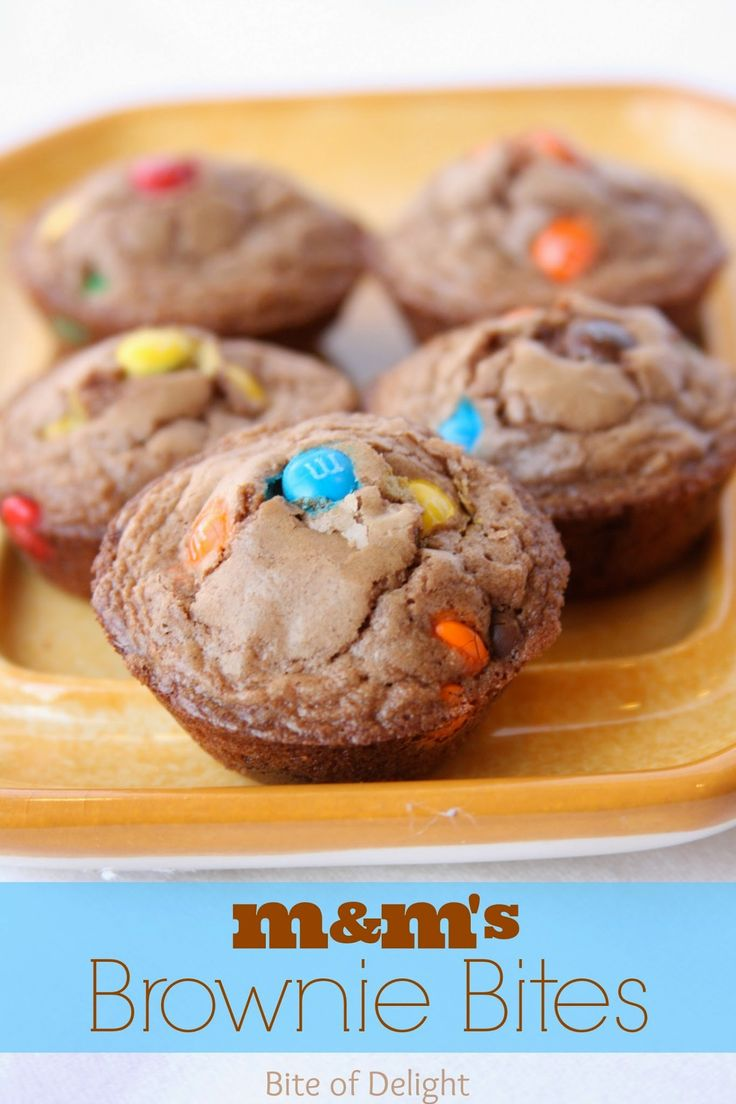 Bite size brownies with a sweet surprise - M&M'S!
