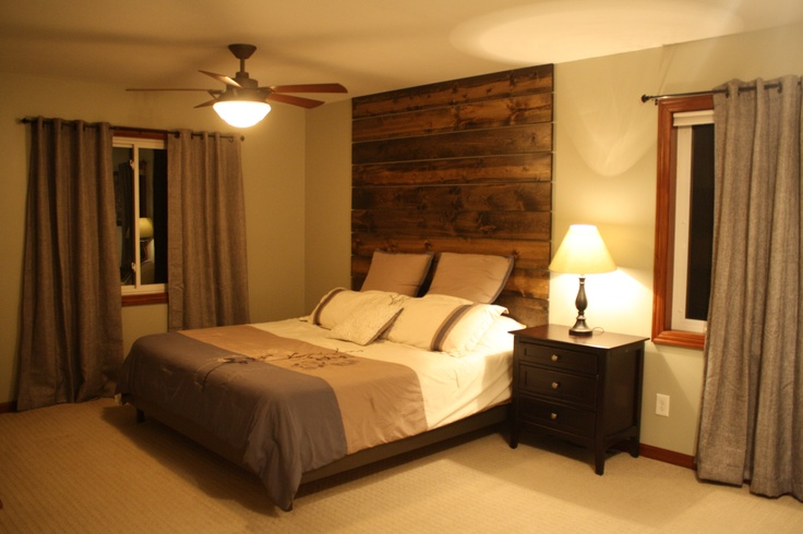 Floor to ceiling headboard made from 1x8 pine boards - Floor to ceiling headboard ...