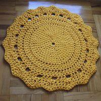 Dywanik żółty 80cm