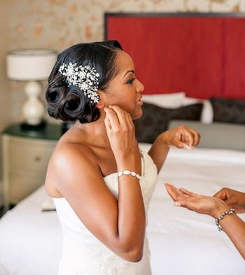 I love this ! Black Women Wedding Hairstyles Ideas : black women wedding hairstyles updos