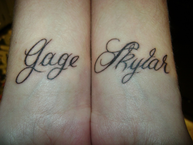 wrist tattoos for my son gage my daughter skylar for my beautiful babes pinterest. Black Bedroom Furniture Sets. Home Design Ideas