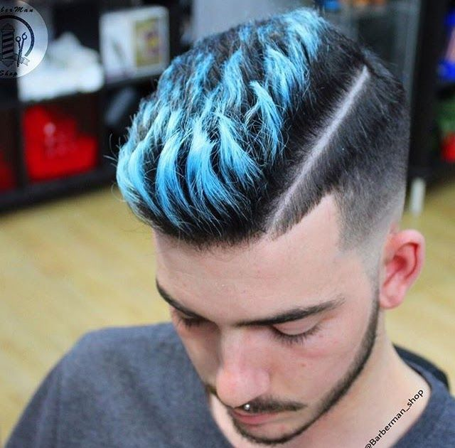 Beautiful Hair Color For Men Blue In 2020 Men Hair Color