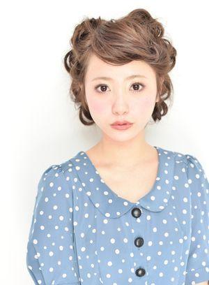 耳がポイントのテディベア風ヘア♡ ハロウィン用のヘアスタイル。髪型・アレンジ・カットの参考に☆