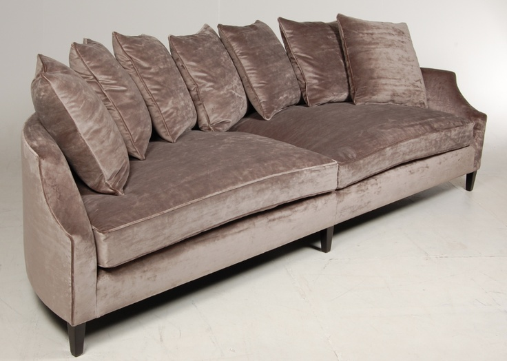 Demi sofa demi 3 seater fabric lounge with chaise by la z for Chaise demi lune