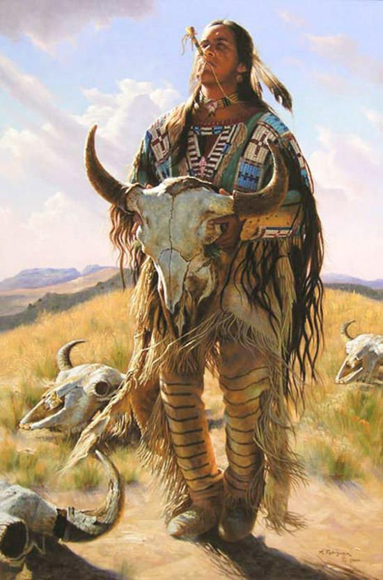 Pinturas realísticas dos índios norte americanos   designerGH