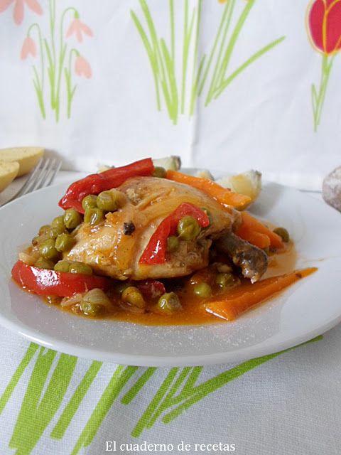 El cuaderno de recetas: Pollo a la Jardinera