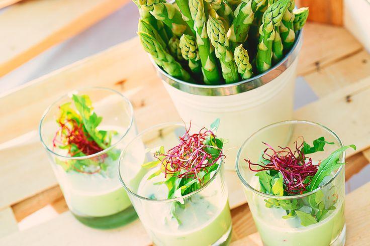 Grüne Spargelsuppe mit Rucola | cookionista
