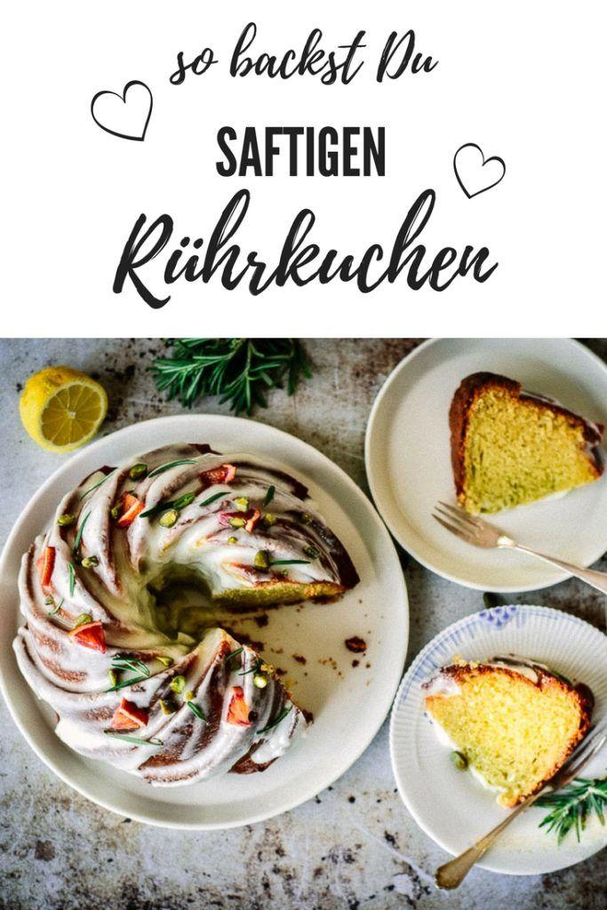 Rührkuchen saftig und lecker.So muss ein Rührkuchen schmecken und mit diesem Rezept wird er perfekt.