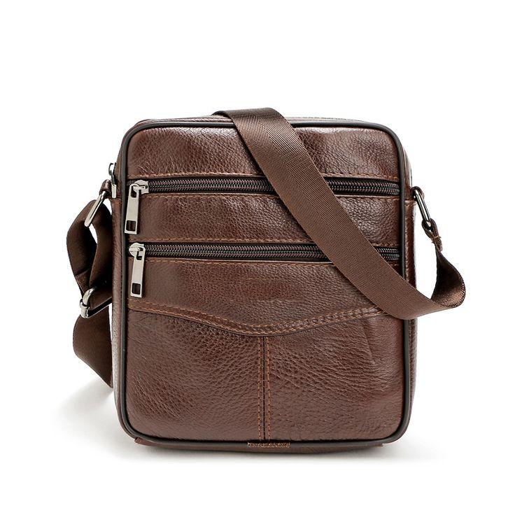 New Casual Zipper Office Bags For Men Luxury Genuine Leather Men Bag Designer High Quality Shoulder Bag
