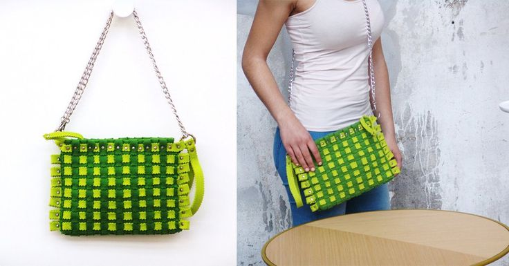Fashion accessories in felt. For your summer, in the colour lemon. Visit our site: feltrando.com