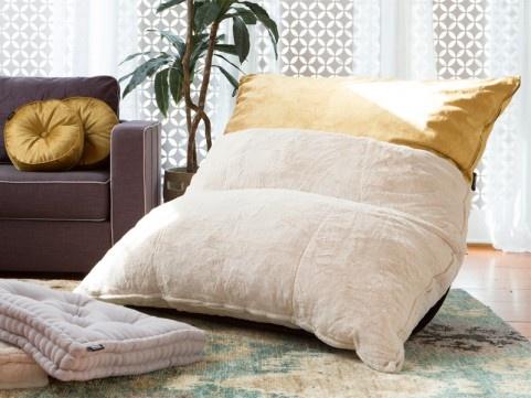 Camel Phur and Golden Honeycomb Pillowsac cover #Lovesac