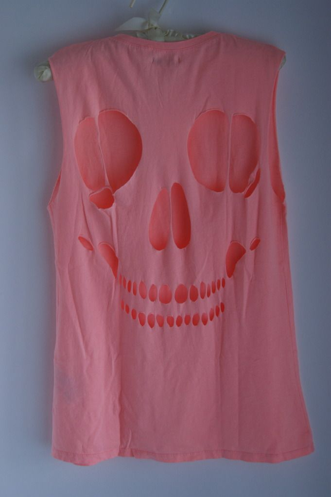 Zara skull cut out tshirt- new craze. Oh look a place for each tit. Looks Mean Girls inspired.