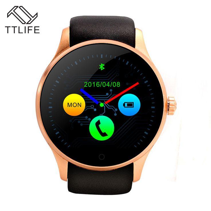Ttlife marke runde metall smartwatch mit sim-karte pulsmesser montre smart watch connecter samsong android ios telefon k88s //Price: $US $51.18 & FREE Shipping //     #meinesmartuhrende