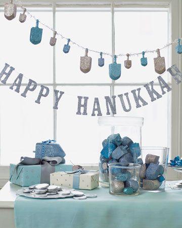 cute Hanukkah table