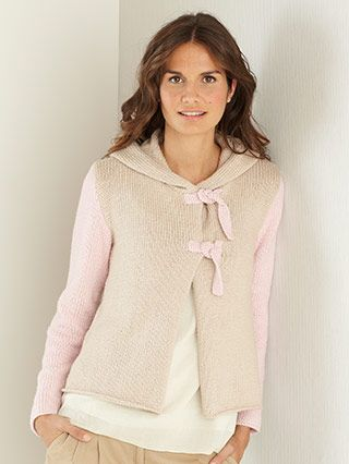 Design from The First Sublime Evie Design Book (700) 17 designs for women knitted in  Sublime Evie. We have selected a palette of fresh, punchy shades and classic neutrals that work wonderfully on their own as well as in the most stunning colour work pieces. Our design team have created a collection of pretty, feminine pieces, as well as casual pieces that are easy to wear and leave you feeling wonderful | English Yarns