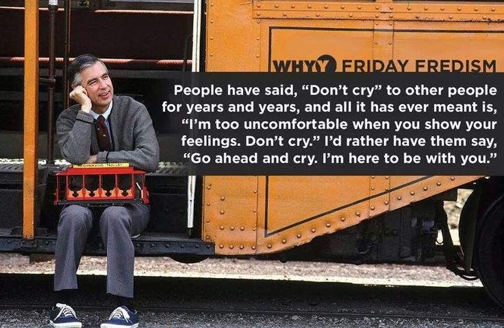 How comfortable are you when others show their feeling? A good life lesion from Mr Rogers