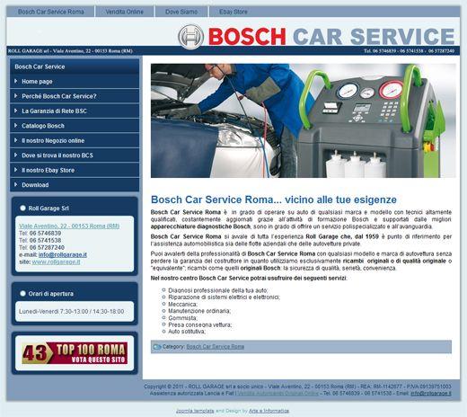 Realizzazione Sito Web: Bosch Car Service