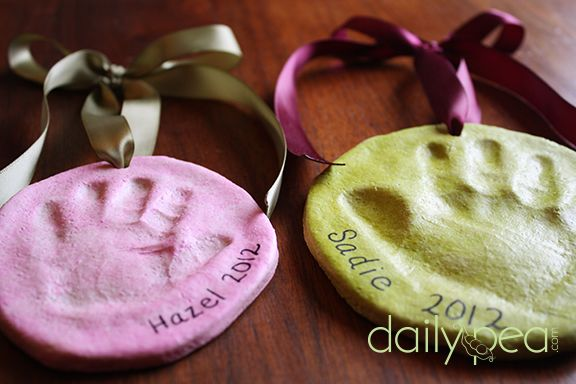 Non-Toxic Salt Dough Handprint Ornaments - Also a fun idea for Mother's Day or Father's Day.