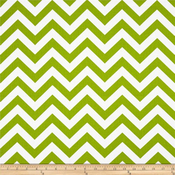 Valances.Chartreuse Chevron Curtain. by TwistedBobbinDesigns
