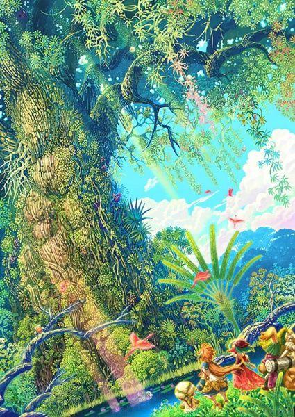 Children of Mana Concept Art - the Mana Tree