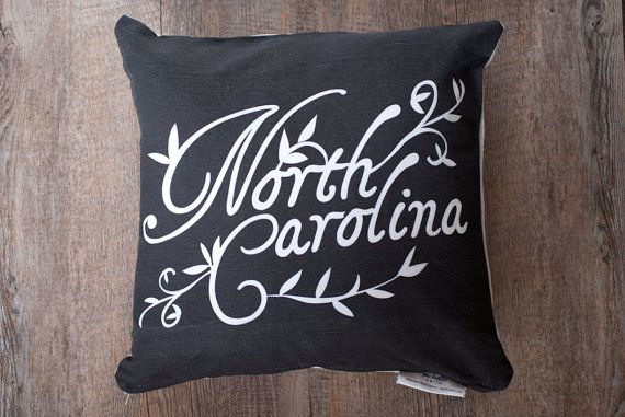 Throw Pillow Cover with Zipper North Carolina by michellesmith, $38.00