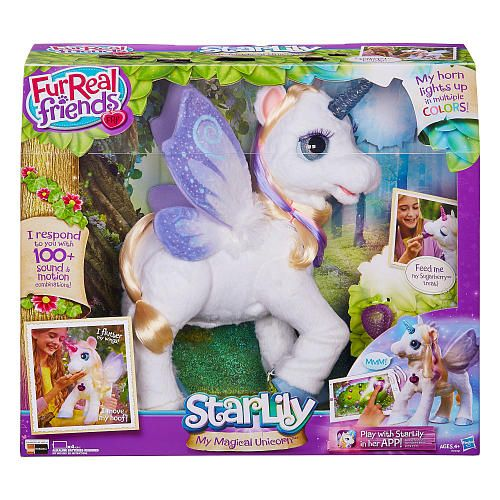 """Madisons Christmas wish is FurReal Friends StarLily, My Magical Unicorn - Hasbro - Toys """"R"""" Us"""