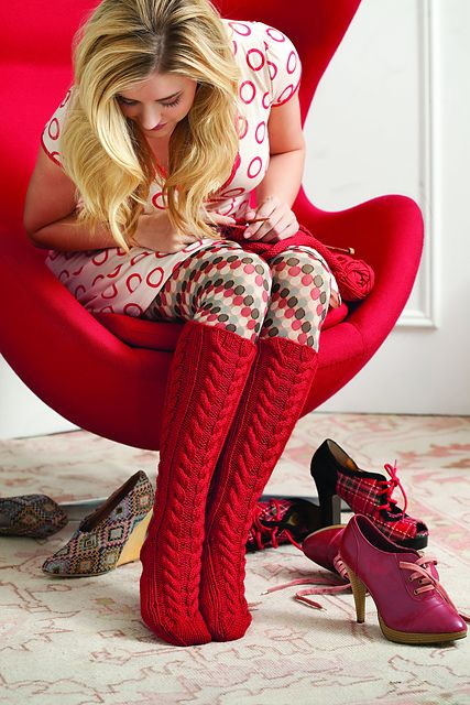 Ravelry: Cabled Knee Highs pattern by Deborah Norville