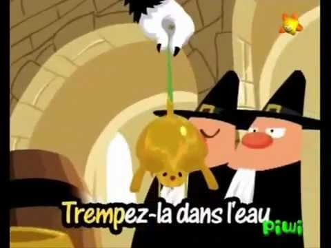 Une souris verte (comptine enfant avec paroles).  You-tube video.  One of 19 on this channel of cute French songs for kids, karaoke style with words highlighted as they are sung.