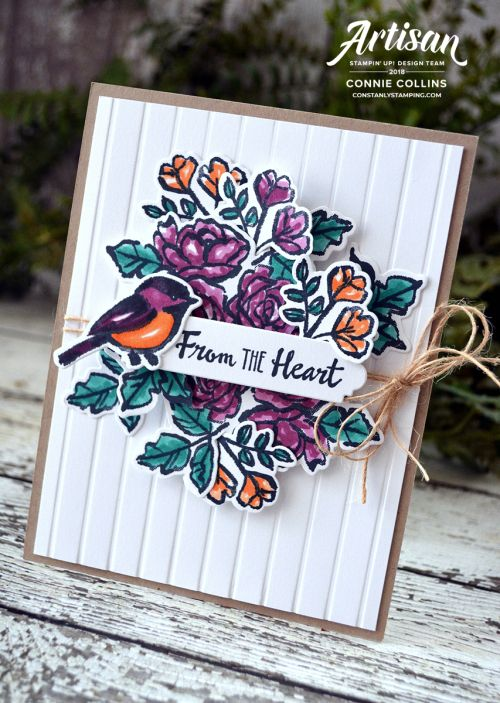 Petal Passion Suite by Stampin' Up. Card designed by Connie Collins for GDP121