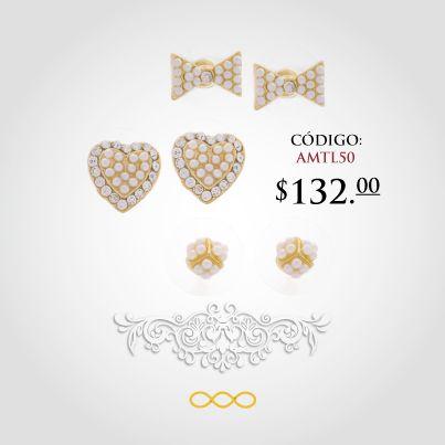 Un bonito juego de broqueles #divertidos, #tiernos y hermosos de #Unlimited en chapa de #oro