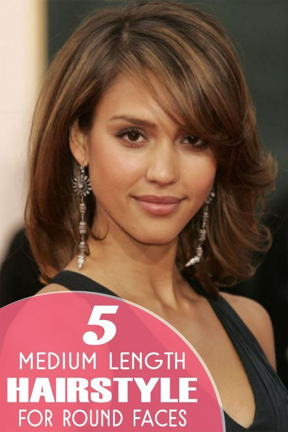 5 Medium Length Hairstyles For Round Faces Best Medium Length Hairstyles Medium Hair Styles Hair Lengths Round Face Haircuts