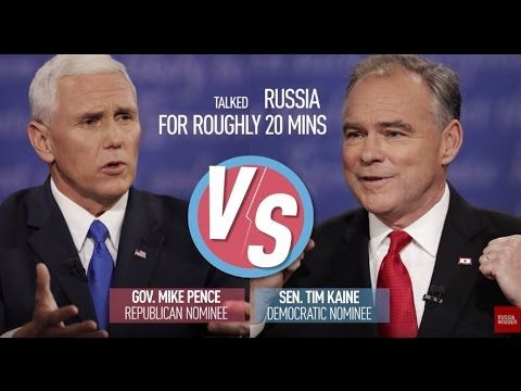 Putin, the small and bullying leader of Russia - VP candidates Pence & Kaine trash Putin & Russia - YouTube
