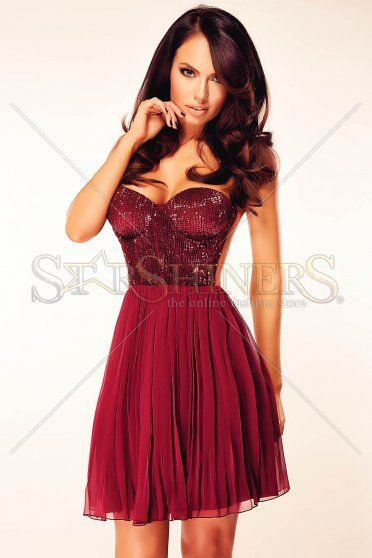 Ana Radu Special Shine Burgundy Dress