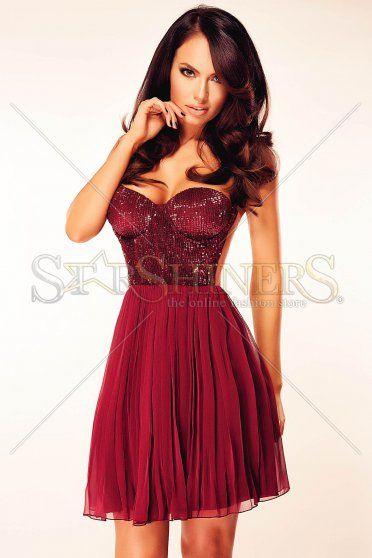 Ana Radu Special Shine Burgundy Dress