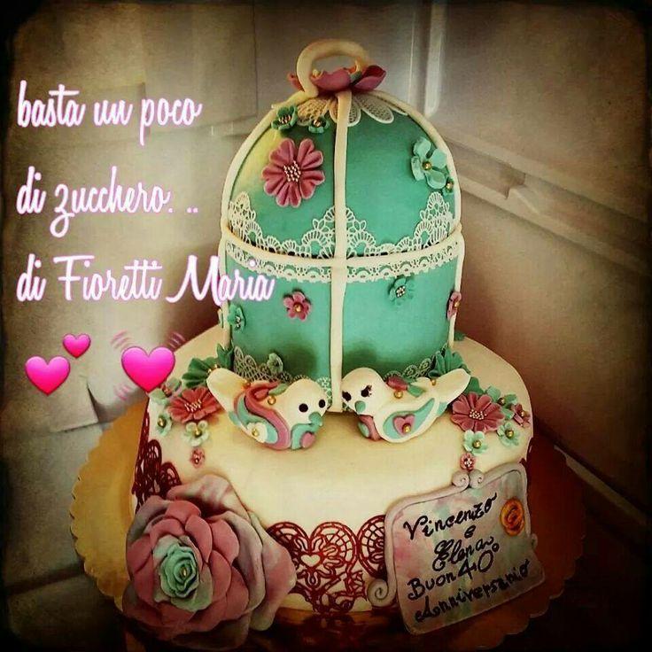Romantico  cake..... x un 40°anniversario  di  matrimonio