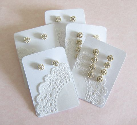 Use paper doilies to make pretty earring display cards...check out this tutorial for instructions