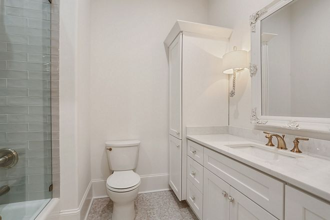 White Bathroom Paint Color Pure White By Sherwin Williams Wall Color In Eggshell Finis French Country Bathroom White Bathroom Paint White Bathroom Paint Colors