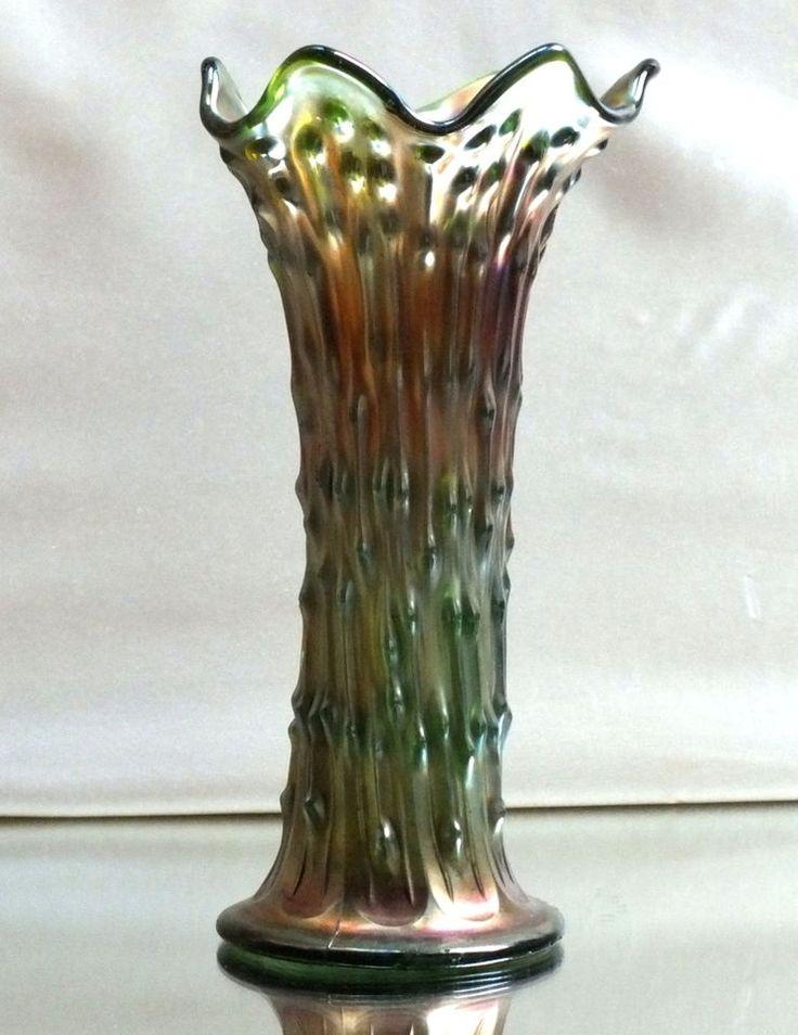 jugendstil art deco vase carnival glas pressglass baumstamm irisierend glas pinterest. Black Bedroom Furniture Sets. Home Design Ideas